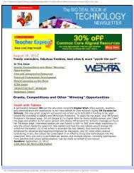 """August 16, 2012 Grants, Competitions and Other """"Winning ... - WEMTA"""