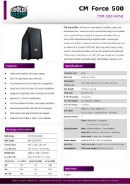 Product Sheet - CM Force 500_0205.pdf - Cooler Master