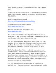 Weekly Report 8 December 2008 - 4 April 2009 - Del Mar North
