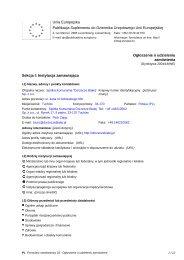 Ogłoszenie o udzieleniu zamówienia - Spółka Komunalna ...