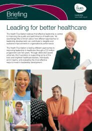 Leading for better healthcare.pdf - Health Foundation