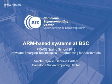 ARM-based systems at BSC - HPC2N