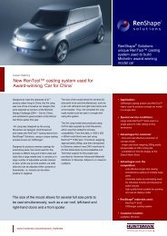New RenTool™ casting system used for Award-winning 'Car for China'