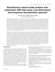 Nonstationary natural media analysis from polarimetric SAR ... - IETR