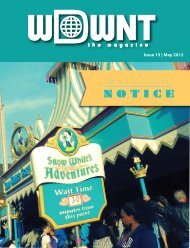 Following my article in Issue 13 on my ... - WDWNT: The Magazine