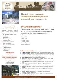 8TH Annual Seminar - Futures and Options Association