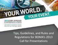 Tips, Guidelines, and Rules and Regulations - BOMA