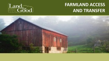 Download presentation for all below - American Farmland Trust