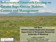 nfluences of Livestock Grazing on Greater Sage ... - Wyoming BLM