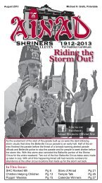 August 2013 - Ainad Shriners