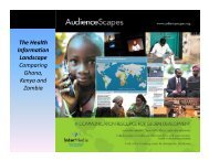Comparing Access to Health Information Across ... - AudienceScapes