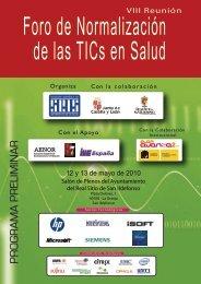 programa preliminar - Sociedad Española de Informática de la Salud