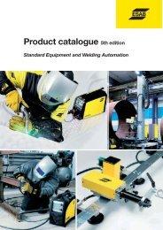 Product catalogue /Standard Equipment