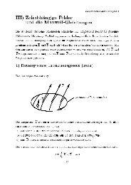 ')1! 4 '8 III) ZeitabhUangige Felder und die Maxwell-Gleichungen Die ...