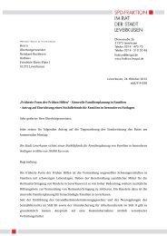 Herrn Bezirksvorsteher - Spd-Fraktion im Rat der Stadt Leverkusen