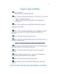 Chapter 2: Steps in Self-Help - Psychological Self-Help