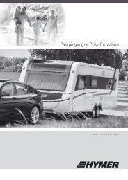 Campingvogne Prisinformation