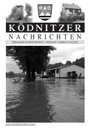 Mitteilungsblatt der Gemeinde Ködnitz - Verwaltungsgemeinschaft ...