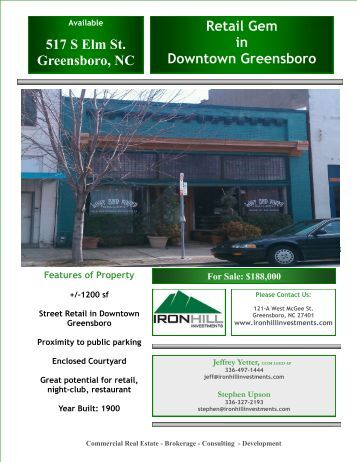 Brochure - Downtown Greensboro, Inc.