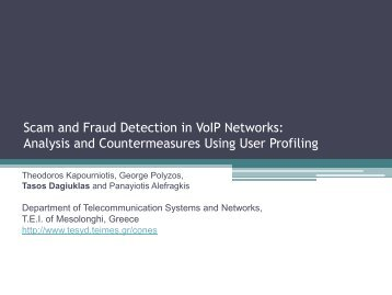 Scam and Fraud Detection in VoIP Networks: Analysis and ...