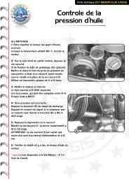 Contrôle de la pression d'huile - Mehari 2 CV Club