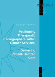 Positioning Therapeutic Radiographers within Cancer Services ...