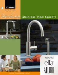 Stainless steel faucet brochure - Elkay