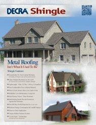 Stone Coated Metal Shingle Brochure - Best Buy Metals