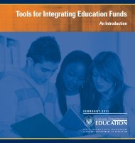Tools for Integrating Education Funds - Louisiana Department of ...