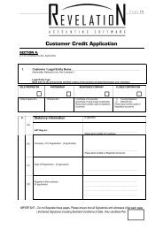 4. Customer Credit Application - Revelation Accounting