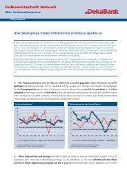 USA: Benzinpreise treiben Inflationsrate im Februar ... - DekaBank