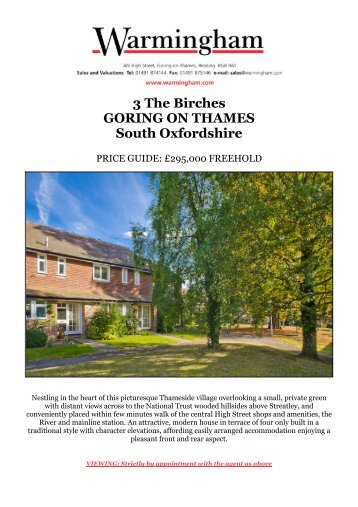3 The Birches GORING ON THAMES South ... - Warmingham