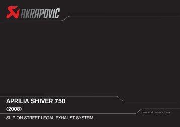 aprilia shiver 750 (2008) - atc racingparts
