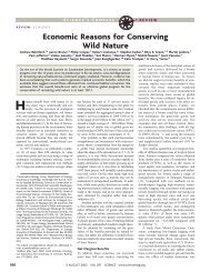 Economic Reasons for Conserving Wild Nature - Science