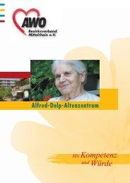 so betreut wie nötig - AWO Alfred-Delp-Altenzentrum