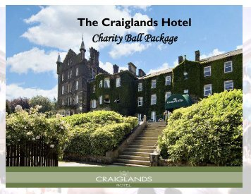 Charity Ball Package - Craiglands Hotel
