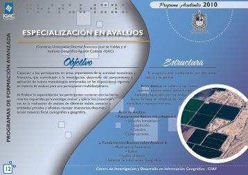 Especialización en Avalúos - Instituto Geográfico Agustín Codazzi