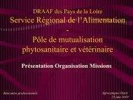 reunion ppe 230610 - Direction régionale de l'alimentation, de l ...