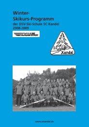 Winter- Skikurs-Programm - Ski-Club Kandel eV Waldkirch