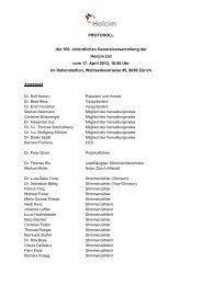 PROTOKOLL der 100. ordentlichen Generalversammlung der ...