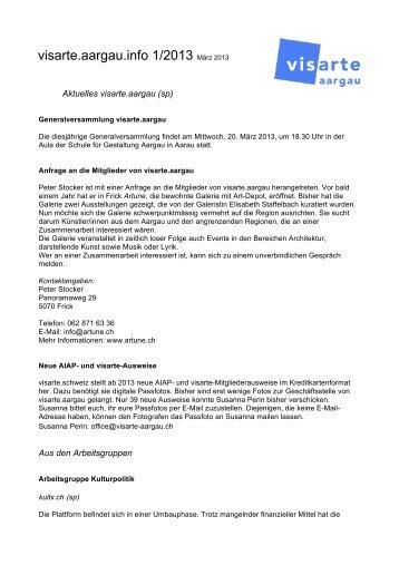 Download Infobrief 1/2013 - Visarte Aargau