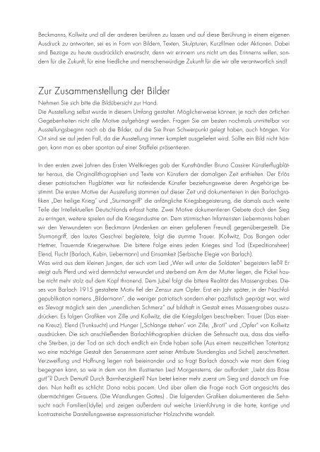 Inhalte und Ziele - 100 Jahre Erster Weltkrieg