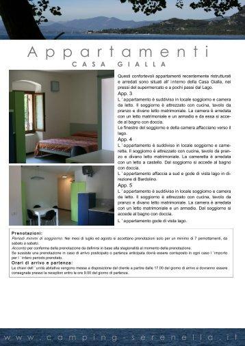Scheda appartamenti Casa Gialla