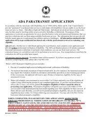 DRAFT ADA PARATRANSIT APPLICATION - Metro Transit