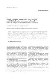 Genetic variability among Polish Red, Hereford and Holstein ...