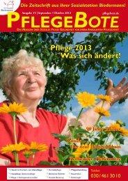 PflegeBote #15 (September / Oktober 2012) Berlin-Mitte (PDF)