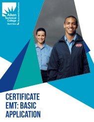 emergency medicAl techniciAn - Aiken Technical College