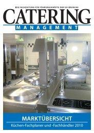 Marktübersicht Küchen-Fachplaner und - Catering Management
