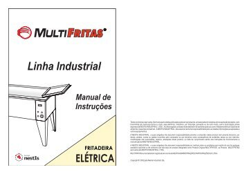 Manual Fritadeira Elétrica - Linha Industrial - Grupo NestIs