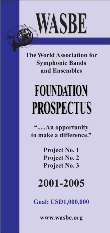 Information - World Association for Symphonic Bands and Ensembles